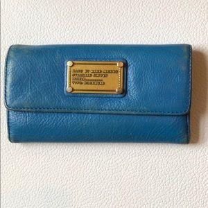 Marc Jacobs teal blue wallet